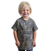 NOTW, Judges 6:12 The Lord Is With You Mighty Warrior, Kid's Short Sleeve T-shirt, Vintage Camo, 3T-Youth Large