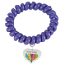 Glitter and Grace, Romans 5:8 You Are Loved Coil Bracelet, Purple