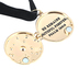 Modern Grace, Psalm 146:6 Maker Of Heaven Locket Necklace, Black and Gold, 16 Inches
