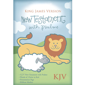 KJV New Testament with Psalms, Imitation Leather, White