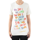 Merch Traffic LLC, Lauren Daigle - You Say, Women's Short Sleeved T-Shirt, Cream, S-2XL