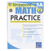 Carson-Dellosa, Singapore Math Practice 5A Workbook, Reproducible Paperback, 128 Pages, Grade 6