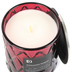 Darsee & David's, Cinnamon Embers Diamond Patterned Jar Candle, Red, 10 Ounces