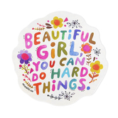 Natural Life, Beautiful Girl Shaped Sticker, Vinyl, 4 inches