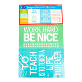 Scholastic, Inspirational Quotes Bulletin Board Set, 6 Pieces