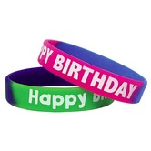 Teacher Created Resources, Fancy Happy Birthday Wristbands, 7.25 Inches, Two-Tone, Pack of 10