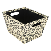 Brother Sister Design Studio, Leopard Print Design Gift Box, Cardboard, 10 x 12 3/4 x 7 3/4 inches