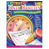 Creative Teaching Press, Math Minutes Workbook, Reproducible Paperback, 112 Pages, Grades 6-8