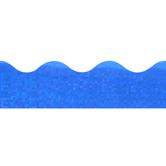 Renewing Minds, Scalloped Glimmer Border Trim, 32 Feet, Blue