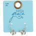 Bella Grace, Heart Shape with Cross Dangle Earrings, Zinc Alloy & Iron, Silver