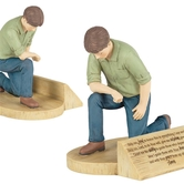 Dicksons, Man in Prayer Figurine, Resin, 6 x 5 inches