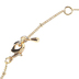 His Truly, Leaf Cluster Pendant Necklace, Zinc Alloy, Gold, 26 Inch Chain