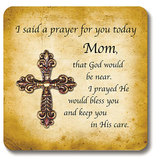 Christian Brands, The Living Cross Prayer Card for Mom, Card Stock, Bronze, 3 3/4 inches