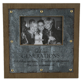 Ganz, Three Generations Photo Frame, Holds 4 x 6 inch Photo, 10 1/2 x 10 1/2 inches