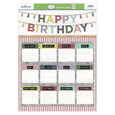 Farmhouse Lane Collection, Customizable Happy Birthday Chart, 17 x 22 Inches, 1 Each