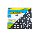Teacher Created Resources, Black Classic 2 Inch Magnetic Letters, 87 Pieces