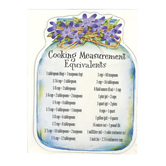 Product Concept Manufacturing, Cooking Measurement Equivalents Magnet, 4 3/8 x 6 5/8 inches