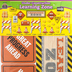 Teacher Created Resources, Under Construction Learning Zone Bulletin Board Set, 60 Pieces