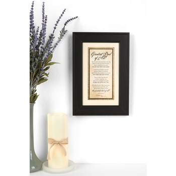 James Lawrence, Greatest Dad of All Framed Wall or Table Plaque, 8 1/2 x 12 1/2 inches