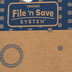 File 'n Save System Bulletin Board Sturdy Folder Storage
