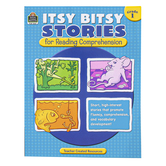 Teacher Created Resource, Itsy Bitsy Stories for Reading Comprehension,  Reproducible, 48 Pages, Grade 1