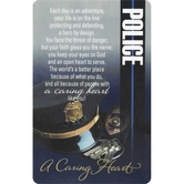 Dicksons, Police Caring Heart Pocket Card, 2 1/2 x 4 inches