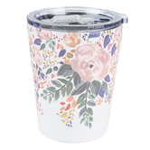 Mary Square, Floral Stainless Coffee Tumbler, Stainless Steel, Autumn Blossom, 12 Ounces