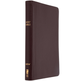 NIV Thinline Reference Bible, Bonded Leather, Thumb Indexed, Multiple Colors Available