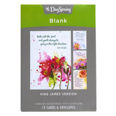 DaySpring, Watercolor Flower Thinking of You Boxed Cards, 12 Cards with Envelopes