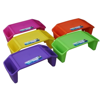 Kids' Multi-Purpose Lap Tray, 5 Assorted Colors, Plastic, 23 x 12 x 8 Inches, 1 Each