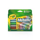 Crayola Metallic Markers, Assorted Colors, Box of 8