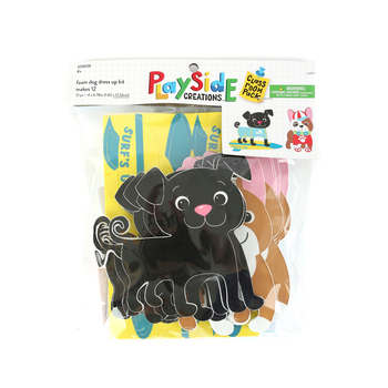 Playside Creations, Foam Dog Dress Up Kit, 3/8 x 6 3/4 Inches, 12 Count