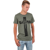 NOTW, John 3:16 For God So Loved Cross, Men's Short Sleeve T-shirt, Military Green Heather, S-2XL