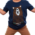 Kerusso, 1 John 4:16, Jesus Loves Me Beary Much, Kid's Short Sleeve T-Shirt, Navy, 3T