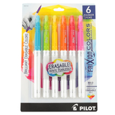 Pilot, FriXion Colors Erasable Marker Pens, Bold Point, Bright Colors, Pack of 6