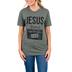 Ruby's Rubbish, Jesus Is My Jam, Women's Short Sleeve T-shirt, Military Green Heather, Small