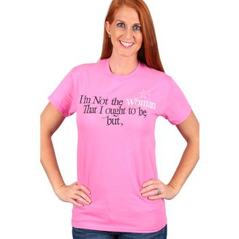 Red Letter 9, Philippians 1:6, I'm Not the Woman, Short Sleeve T-Shirt, Azalea Pink, S-3XL