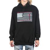 Kerusso, Flag Cross, Men's Long Sleeve Hoodie, Black, X-Large