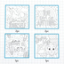 Playside Creations, Dream Big Printed Canvas Panels Set, 8 x 8 Inches, Pack of 6, Grades 3-adult