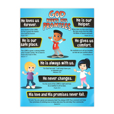 Renewing Minds, God's Promises for Kids Chart, Multi-Colored, 17 x 22 Inches, 1 Each, Grades PreK-3