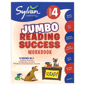 Sylvan Learning, 4th Grade Jumbo Reading Success Workbook, Paperback, 310 Pages, Grade 4