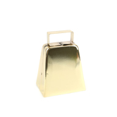 Tree House Studio, Metal Cow Bell, 4 Inches, Gold, 1 Piece