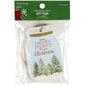 Brother & Sister Design Studio, Merry Christmas Mason Jar Gift Tags