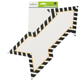 Glimmer of Gold Collection, Two-Sided Blank Arrow Decoration, 18 x 8 Inches