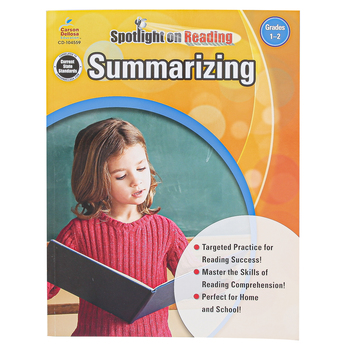 Carson-Dellosa, Summarizing Resource Book, Spotlight on Reading, Reproducible Paperback, Grades 1-2