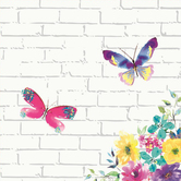 Renewing Faith, Faith & Fellowship Flowers & Butterflies Paper Napkins, Large, Floral, 6 1/2 Inches, Pack of 50