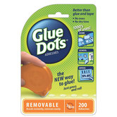 Glue Dots, Removable Adhesives with Dispenser, 3/8 inch, 200 Count