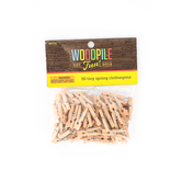 Woodpile Fun, Tiny Spring Clothespins, 1 inch, Natural, 50 Count