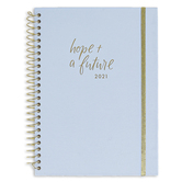 DaySpring, Studio 71, Hope and A Future 12-Month 2021 Planner, White and Gold, 8 5/8 x 6 3/4 Inches