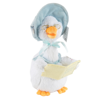 Cuddle Barn, Singing Mother Goose, 7 Rhymes, 15 Inches, White with Blue Bonnet Stuffed Animal